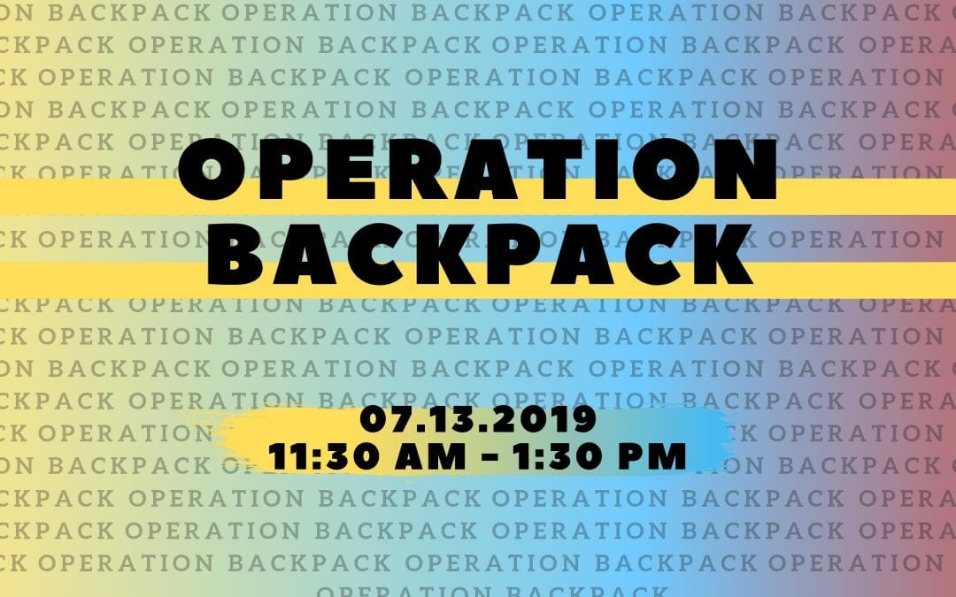 Operation Backpack – Plainfield